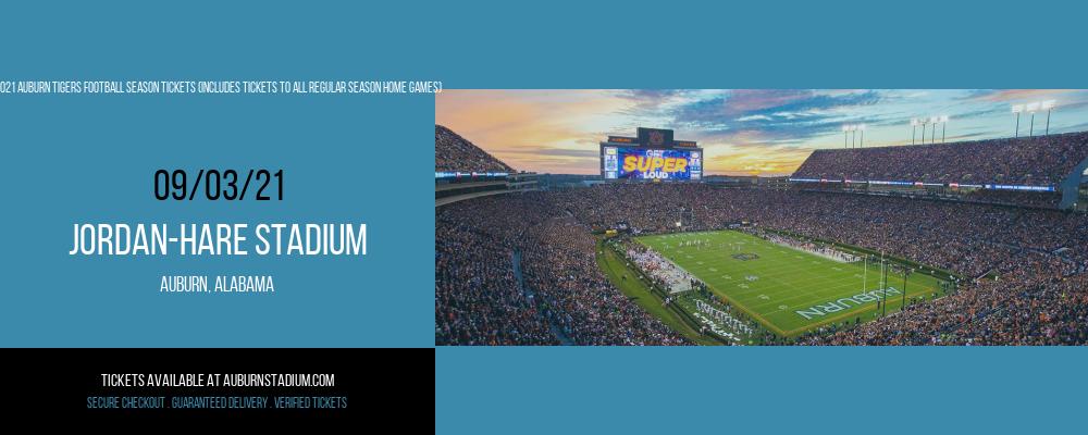 2021 Auburn Tigers Football Season Tickets (Includes Tickets To All Regular Season Home Games) at Jordan-Hare Stadium