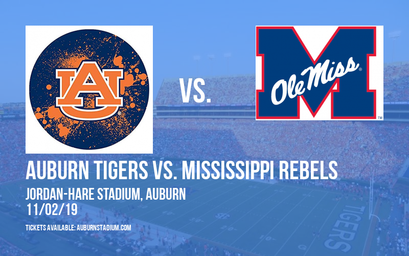 PARKING: Auburn Tigers vs. Mississippi Rebels at Jordan-Hare Stadium